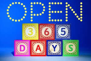 Open 365 days Graphic